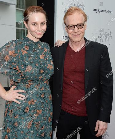 Mali Elfman and father Danny Elfman