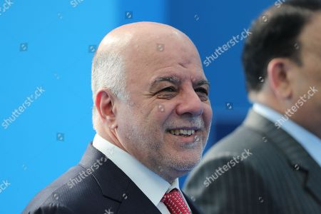 Iraqi Prime Minister Haider al-Abadi arrives for the second day of a NATO summit in Brussels, Belgium, 12 July 2018. NATO countries' heads of states and governments gather in Brussels for a two-day meeting.