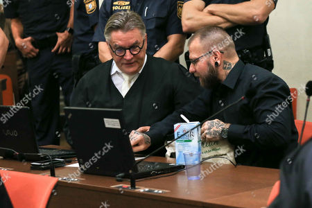 Lawyer Herbert Hedrich and defendant Andre Eminger