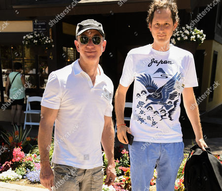 Jeff Bezos and John Elkann