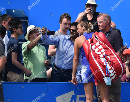 Petra Kvitova . Tennis: Aegon Classic Birmingham Wta. Pic Shows:- Tereza Smitkova Vs Petra Kvitova. Petra Kvitova After Her Victory Over Smitkova.