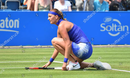 Petra Kvitova . Tennis: Aegon Classic Birmingham Wta. Pic Shows:- Tereza Smitkova Vs Petra Kvitova. Petra Kvitova During Her Game Aginst Smitkova.