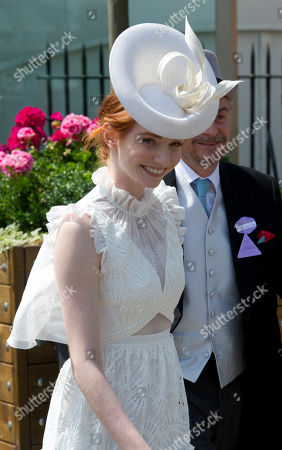 Editorial photo of Poldark Actress Eleanor Tomlinson On The Second Day Of Royal Ascot Enjoying Record Breaking Sunshine. Picture David Parker 21.6.2017 Reporter Josh White And Laura Lambert.