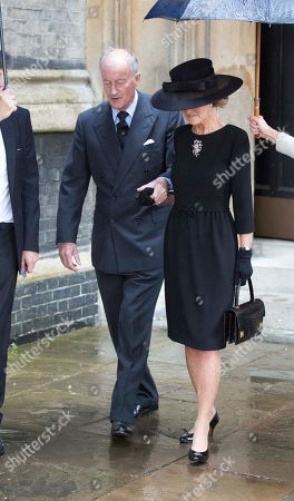 Lord And Lady Brabourne .the Royals Attend The Funeral Of The Countess Mountbatten Of Burma St Paul's Church Knightsbridge.