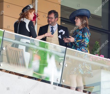 Sarah Ferguson With Her Two Daughters Princess Beatrice And Eugenie Join Hm The Queen And Prince Andrew For Day Four Of Royal Ascot. 23.6.2017 Reporter Josh White And Laura Lambert.