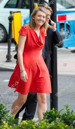 The Tower Blocks In Camden Which Are Being Evacuated After The Council Declared Them Unsafe Because Of The Use Of Similar Cladding To The Grenfell Tower. Pictured Is Georgia Gould 31 Who Is Leader Of Camden Council And Has Been At The Scene. (wearing A Red Dress).