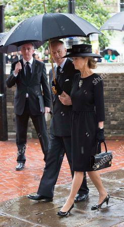 Lord And Lady Brabourne Arrive .the Royals Attend The Funeral Of The Countess Mountbatten Of Burma St Paul's Church Knightsbridge.