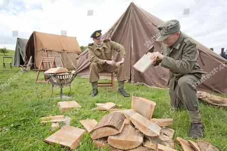 Editorial picture of Chalke Valley History Festival - World War Ii In Colour Warrant Officer Matt Cobb (left) And Grenadier Paul Groves.