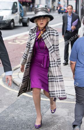 Baroness (fiona) Shackleton Lawyer Arrives At The High Court Central Family Court Holborn London. Petra Ecclestone/james Stunt Divorce Hearing.