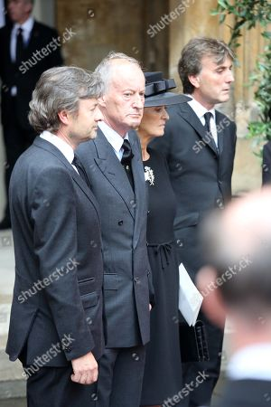 Lord And Lady Brabourne After The Service The Royals Attend The Funeral Of The Countess Mountbatten Of Burma St Paul's Church Knightsbridge.