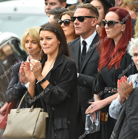 Anthony Cotton. (l To R) Coronation St. Actresses Helen Worth Faye Brooks Kym Marsh Anthony Cotton And Producer Ate Oates At The Funeral Of Manchester Arena Bomb Blast Victim Martyn Hett 29 At Stockport Town Hall Stockport Cheshire.