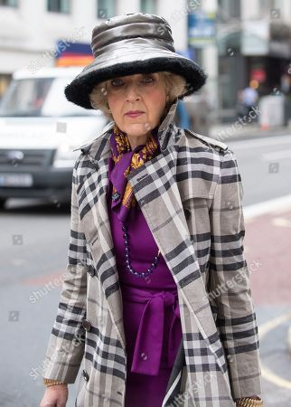 Baroness (fiona) Shackleton Lawyer Arrives At The High Court Central Family Court Holborn London 28.06.17.
