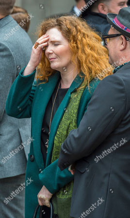 Jenny Mcalpine. Coronation St. Actress Jenny Mcalpine At The Funeral Of Manchester Arena Bomb Blast Victim Martyn Hett 29 At Stockport Town Hall Stockport Cheshire.