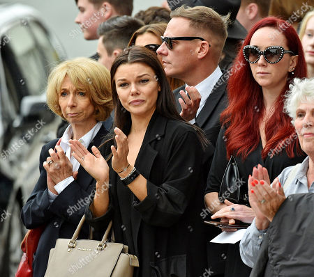 Anthony Cotton. (l To R) Coronation St. Actresses Helen Worth Faye Brooks Anthony Cotton And Producer Ate Oates At The Funeral Of Manchester Arena Bomb Blast Victim Martyn Hett 29 At Stockport Town Hall Stockport Cheshire.