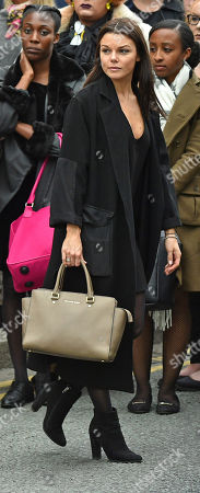 Faye Brooks. Coronation St. Actress Faye Brooks At The Funeral Of Manchester Arena Bomb Blast Victim Martyn Hett 29 At Stockport Town Hall Stockport Cheshire.