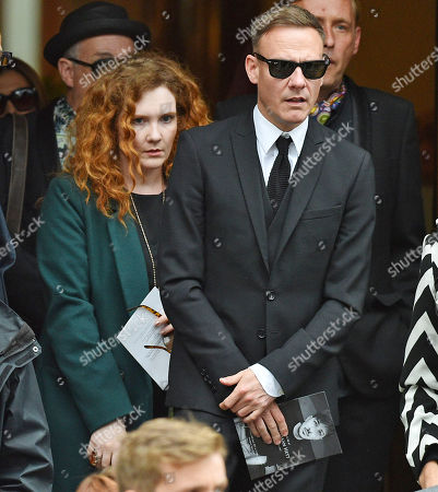 Editorial picture of Jenny Mcalpine. Coronation St. Actress And Actor Anthony Cotton And Jenny Mcalpine At The Funeral Of Manchester Arena Bomb Blast Victim Martyn Hett 29 At Stockport Town Hall Stockport Cheshire.