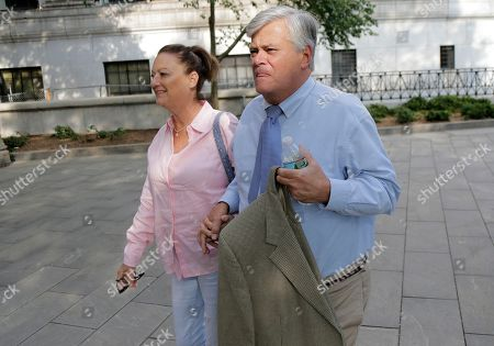 Dean Skelos and his wife Gail Skelos arrive to federal court in New York, . The former state Senate leader is accused of shaking down businesses to give his wayward son no-show work