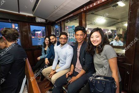 Filmmakers and cast of SEARCHING at RISE 2018, the largest tech event in Asia, in Hong Kong. From left to right: Producer Natalie Qasabian, Screenwriter/Producer Sev Ohanian, Director/Screenwriter Aneesh Chaganty, John Cho and Michelle La, #searchingmovie
