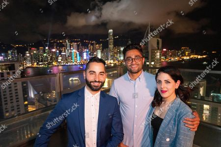 Filmmakers and cast of SEARCHING at RISE 2018, the largest tech event in Asia,, in Hong Kong. From left to right; Screenwriter/Producer Sev Ohanian, Director/Screenwriter Aneesh Chaganty and Producer Natalie Qasabian. #searchingmovie