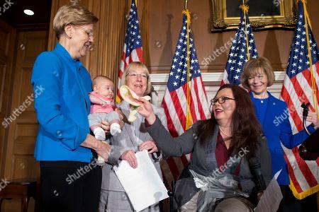 Stock Photo of Patty Murray, Tammy Duckworth, Elizabeth Warren and Tina Smith