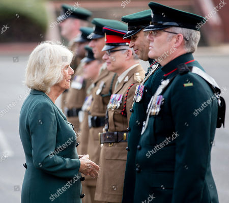 Camilla Duchess Of Cornwall visit to New Normandy Barracks, Aldershot