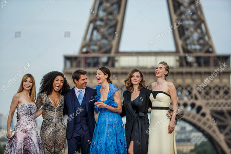 Tom Cruise, Michelle Monaghan, Angela Basset, Alix Benezech, Rebecca Ferguson and Vanessa Kirby