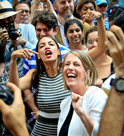 Zephyr Teachout, Alexandria Ocasio-Cortez. Alexandria Ocasio-Cortez, center, the surprise winner in the congressional race who unseated 20-year incumbent Joe Crowley in New York's Congressional District 14, points to Zephyr Teachout while endorsing her candidacy for Attorney General during a press conference, in New York