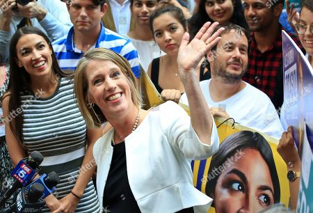 Zephyr Teachout, Alexandria Ocasio-Cortez. Alexandria Ocasio-Cortez, left, the surprise winner in the congressional race who unseated 20-year incumbent Joe Crowley in New York's Congressional District 14, stands next to Zephyr Teachout, center, during a press conference after endorsing her candidacy for Attorney General, in New York