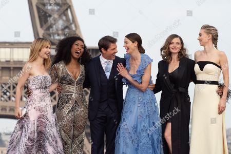 Alix Benezech, Angela Bassett, and Producer Tom Cruise, Actresses Michelle Monaghan, Rebecca Ferguson and Vanessa Kirby