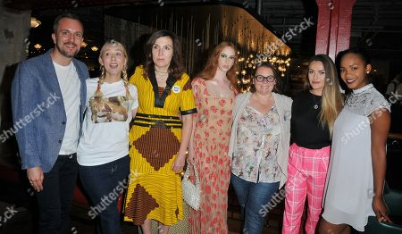 Guest, Deborah Haywood, guest, Lily Newmark, Joanna Scanlan, Chanel Cresswell and guest