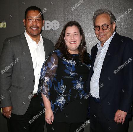David White (Exec. Dir; SAG-AFTRA), Rebecca Damon (Exec. VP; SAG-AFTRA) and Lewis Black