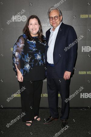 Rebecca Damon (Exec. VP; SAG-AFTRA) and Lewis Black