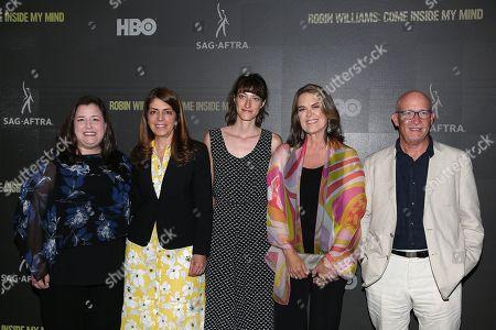 Rebecca Damon (Exec. VP; SAG-AFTRA), Nancy Abraham (Exec. VP Documentary; HBO), Shirel Kozak (Producer), Marina Zenovich (Director) and Alex Gibney (Producer)