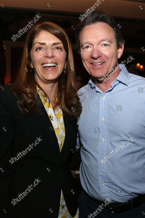 Stock Picture of Nancy Abraham (Exec. VP Documentary; HBO) and Lawrence Wright