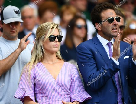 Stock Image of Madison McKinley and Justin Gimelstob on Centre Court