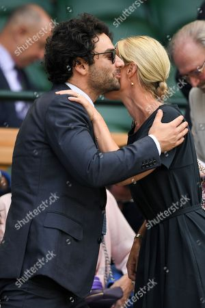 Aidan Turner and Shara Grylls in the Royal Box