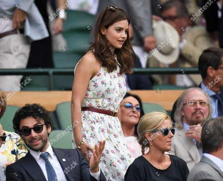 Stock Picture of Aidan Turner, Jenna Coleman and Barry Gibb in the Royal Box