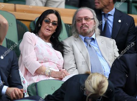 Barry Gibb and Linda Gibb in the Royal Box