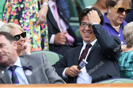 Michael McIntyre and Kitty McIntyre in the Royal Box