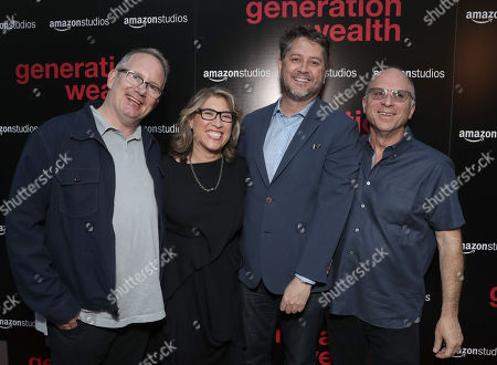 Amazon Studios Head of Production Ted Hope, Lauren Greenfield, Frank Evers and Amazon Studios Head of Marketing and Distribution Bob Berney