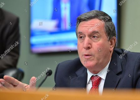 Miami Commissioner Joe Carollo attends a meeting at the Miami City Hall during a public hearing about building a Major League soccer stadium on a public golf course