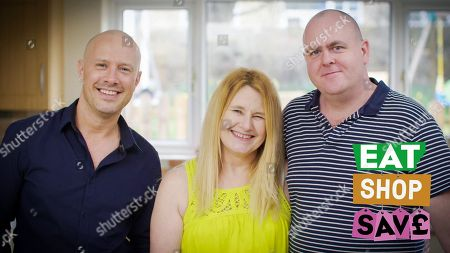 (l-r) Chef and Nutritionist Dale Pinnock with the Bassetts Mum Fiona and Dad Dan