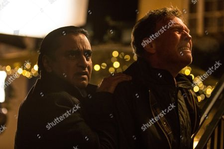 Sanjeev Bhaskar as DI Sunny Khan and Steven Pacey as Nick.