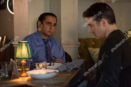 Sanjeev Bhaskar as DI Sunny Khan and Alastair MacKenzie as DCI John Bentley.