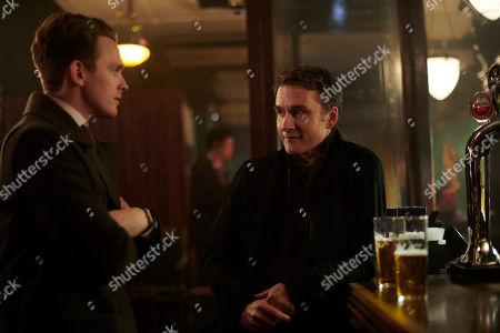 Lewis Reeves as DC Jake Collier and Alastair MacKenzie as DCI John Bentley.