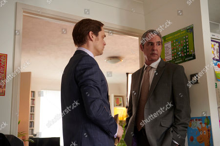 Finlay Robertson as Mark Harper and Neil Morrissey as Pete Carr.