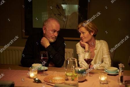 Peter Egan as Martin Hughes and Janet Dibley as Jenny.