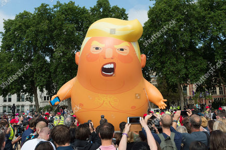 US President Donald Trump visit to the UK, Day 2 protests