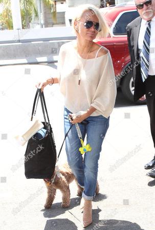 Editorial photo of Kristen Chenoweth at LAX International Airport, Los Angeles, USA - 12 Jul 2018