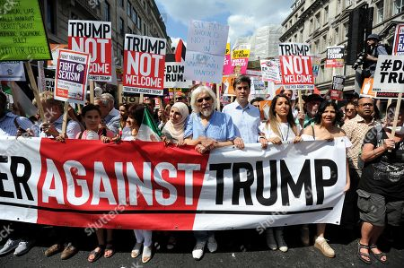 Protest march against the UK visit by US President Donald Trump, London, UK   Ed Miliband